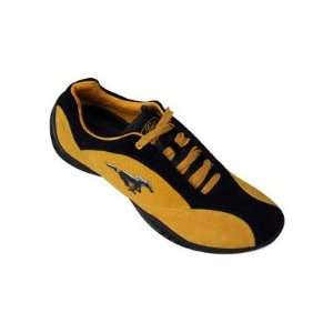 Ford Mustang FM003 Mens Suede Driving Shoes in Gold