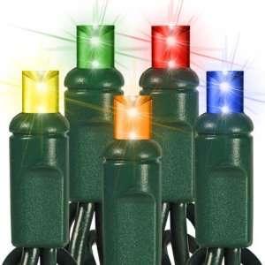 50) Bulbs   LED   Multi Color Frost Wide Angle Mini Christmas Lights
