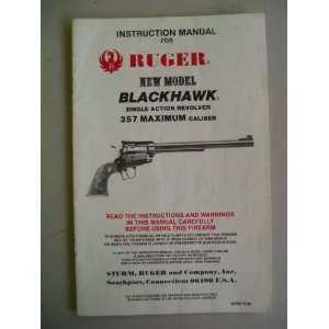 Manual for RUGER NEW MODEL BLACKHAWK Single Action Revolver 357