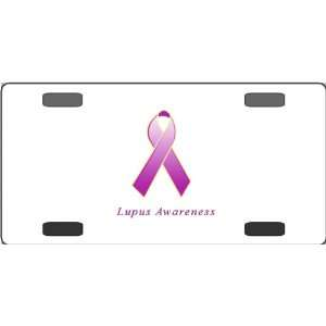 Lupus Awareness Ribbon Vanity License Plate: Everything