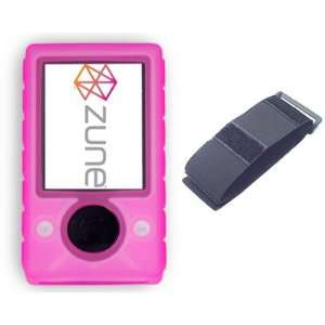 Microsoft Zune Travel Combo Set   Pink Skin Case + Car Charger + Home