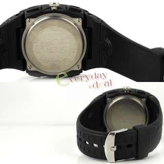 Quartz Watch Rubber Multi Function LED Digital Alarm Dive New