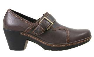 Clarks Womens Shoes 34967 Freesia Isle Brown Leather
