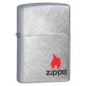Zippo Custom Lighter   Logo with Flame Herringbone Sweep