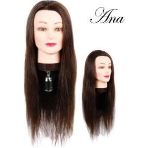 Hairart 24 Cosmetology Mannequin Head Human Hair, Dark
