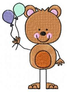 BABY STICK BEAR MACHINE EMBROIDERY DESIGNS CD SET OF 10