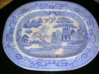 Antique Blue Willow ONeill James Co.SP England Platter