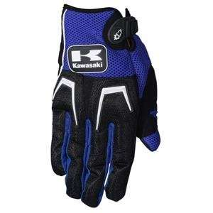 Joe Rocket Kawasaki Cliffhanger Gloves   Large/Blue/Black
