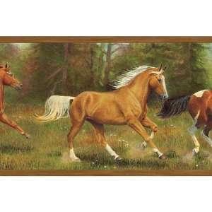Wild Horses Running Wallpaper Border