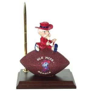 6.5 NCAA Ole Miss Rebels Football Clock and Pen Office