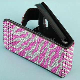 for Nokia C3 00 Bling Rhinestone Cover Case Zebra Pink