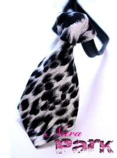 Designer Pet Dog & Cat Leopard Print Bow Tie/Collar