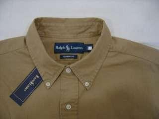 New Polo Ralph Lauren Pony L Classic Fit Mens Button Down Dress Shirt