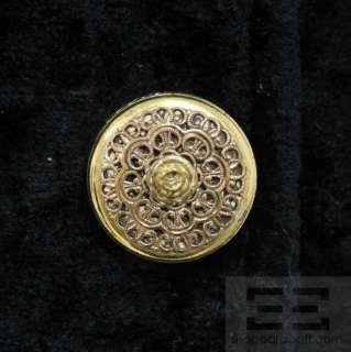 Gianfranco Ferre Black Castoro Fur Cuffs Gold Button Coat Size 6