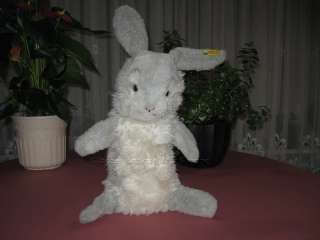 Steiff Jolly Hase Rabbit 3480/40 Gray Hand Puppet IDS