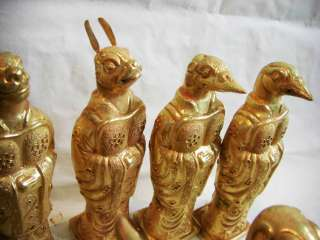 twelve Chinese zodiac signs gold gilding Antique Statues