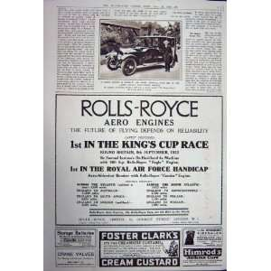 Advertisement 1922 Rolls Royce Aero Engines Cars London