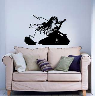 Wall Vinyl Sticker Decal ANIME GIRL WITH A GUN 021
