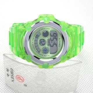 Green Ohsen Children boy girl sport digital new watches