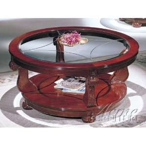 Penrose Cherry Round Coffee Table by Acme Furniture