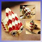 Cute Gold Plated Stone Owl Stretch Ring Adjustable Sz