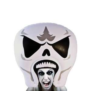 Giant Inflatable Skeleton Head Headpiece: Toys & Games