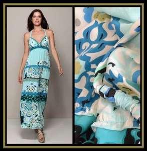 Hale Bob Silk Long Maxi Dress XS 0 2 4 UK 4 6 8 NWT $316 Moscow Nights