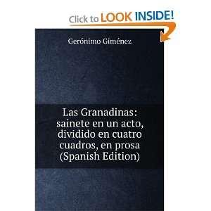 cuadros, en prosa (Spanish Edition): Gerónimo Giménez: Books