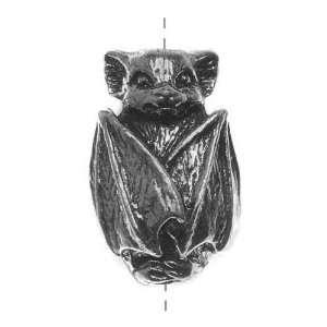 Green Girl Studios Pewter Bat Focal Bead 19mm (1) Arts