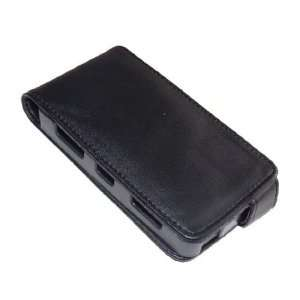 Tech Black Leather Flip Case for Nokia N900 Cell Phones & Accessories