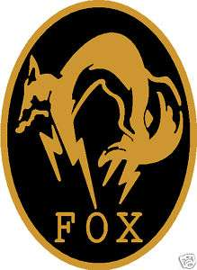 Fox decal sticker Metal Gear Solid 3 fox Hound mgs3