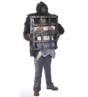 Gorilla Carrying A Man In Cage Adult Costume One Size Fits Most