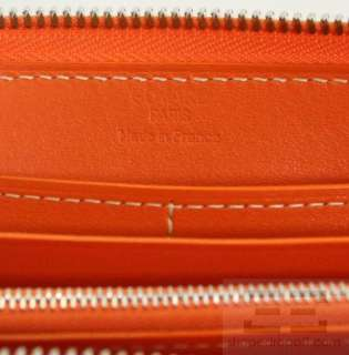 Goyard Orange Chevron Coated Canvas & Leather Large Zip Around Wallet