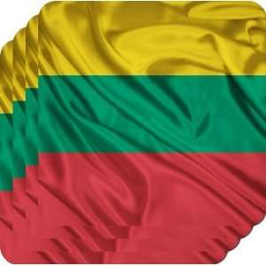 Rikki KnightTM Lithuania Flag   Square Beer Coasters
