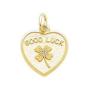 Rembrandt Charms Good Luck Charm, Gold Plated Silver