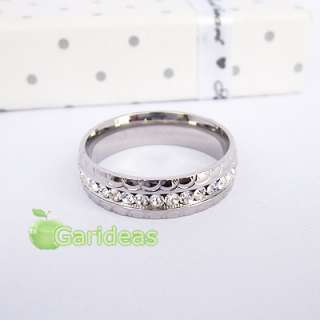 Mens Silver Stainless Steel Diamond Ring Item ID2101 US Size 7 8 9