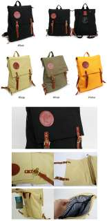 New Leather Cotton Laptop Backpack Bookbag Rucksack Campus Travel Bag
