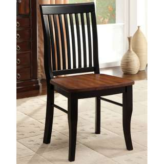 Alta Muta Antique Solid Wood Black Finish Dining Chairs (Set of 2
