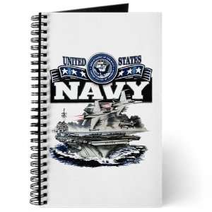 United States Navy Aircraft Carrier and Jets on Cover
