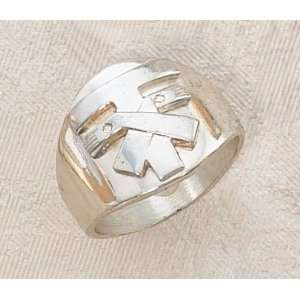 Franciscan Tau Sterling Silver Ring Size 7: Jewelry