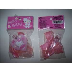 Hello Kitty Hair Accessory Set Clip Barrette Set of TWO