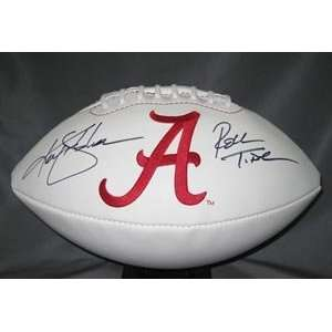 Ken Stabler Signed Alabama Crimson Tide Football   Roll Tide
