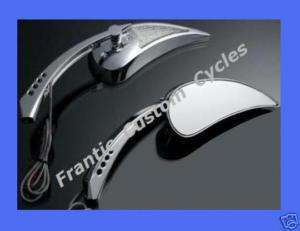 DUAL LED Turn Signal MIRROR SET for Harley Motorcycle 1982 2012
