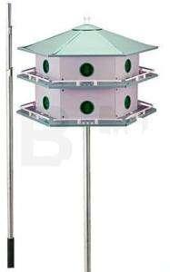Heath AH 12D Deluxe Purple Martin House & Pole Package