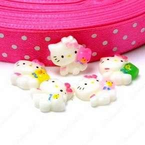 B1846 (40 pcs) Mixed Cute Mini Hello Kitty Bear 10MM Resin Flatback