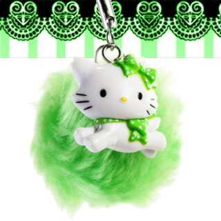 Sanrio Hello Kitty Charmmy Cat Green Plush Phone Strap
