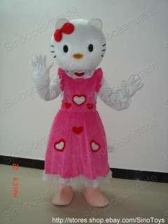 HELLO KITTY CAT IN PINK DRESS ADULT SIZE MASCOT COSTUME