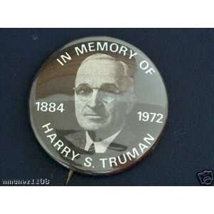 HARRY TRUMAN BADGE political pin button campaign 1 1/4