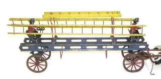 Anique Wilkins oy 3 Horse Drawn Fire Ladder Wagon |