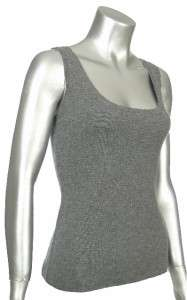 Sutton Studio Womens Cashmere Scoopneck Tank Sweater